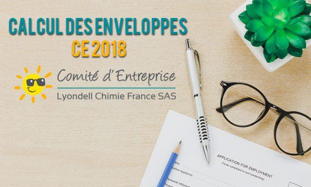 Calcul des enveloppes CE 2018