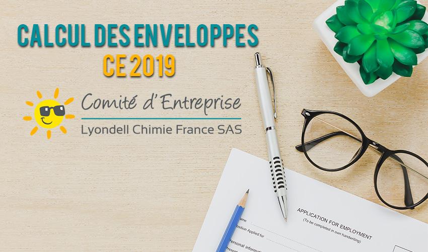 Calcul des enveloppes CE 2019 / Dossier clôturé
